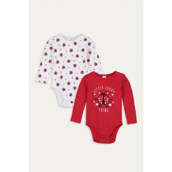 Baby Girl Vivid Red Hnk Snaps Body 2sets 9W3557Z1