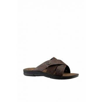Brown Men's Slippers 19YAYGEZ0000007