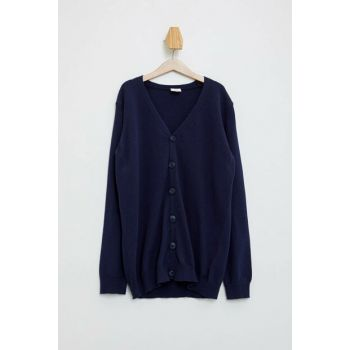 Navy Blue Boy V Neck Sweater Cardigan K8836A6.19AU.NV154