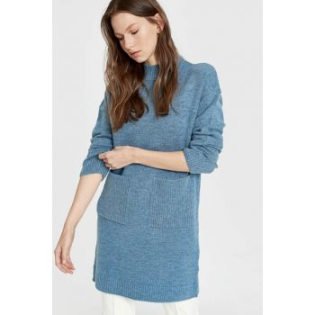 Women's Blue Melange Tunic 9W4675Z8