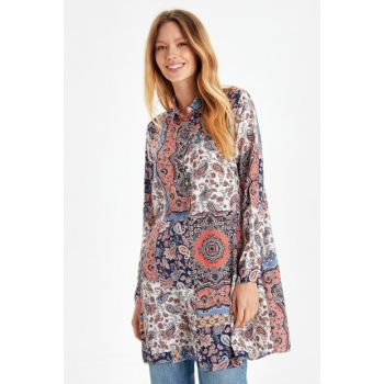 Women's Tile Printed Tunic 9WJ792Z8