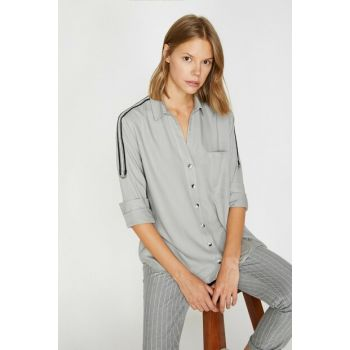 Women's Gray Pocket Detailed Tunic 0KAK68562PW