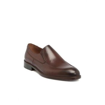 Genuine Leather Coffee Leather Men Shoes E17S1AY53085