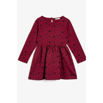 Maroon Girls' Dress 0KKG87915OK