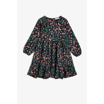 Black Girls' Dress 0KKG87714AW