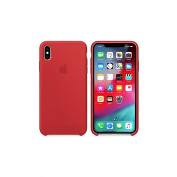 iPhone XS MAX Original Slim Silicone Rubber Case Back Cover - Red MMWF2ZM / A-18