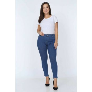 Women's Plus Size High Waist Lycra Denim Pants MYN598-55-10137