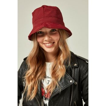 11325 Quilted Bucket Red Hat with Drawstring SPK-2081