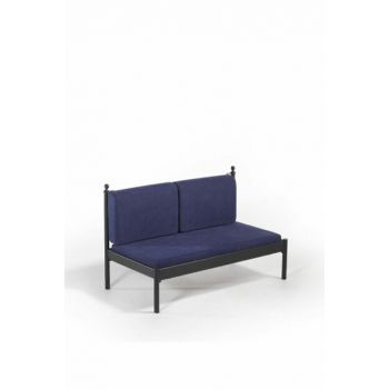 Mitas Sofa Cedar Double Sofa Black-Navy Blue MtsSS140SL