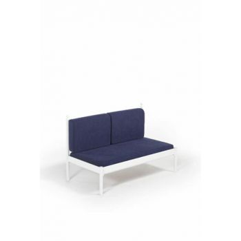 Mitas Sofa Cedar Double Sofa White-Navy Blue MtsSS140BL