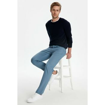 Men's Matte Blue Trousers 9W0893Z8
