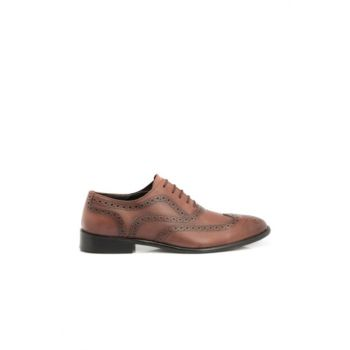 Genuine Leather Taba Leather Men Shoes54135A37 E18S1AY54135