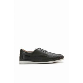 Genuine Leather Anthracite Men Sneaker 02AYH142600A250