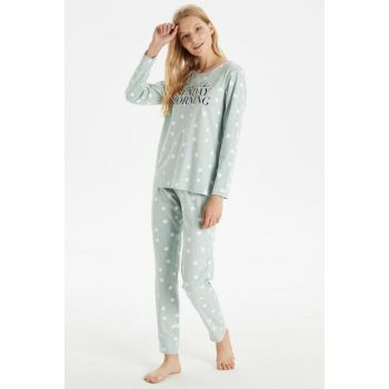 Women's Mint Green Mlj Pajama Set 9W3985Z8