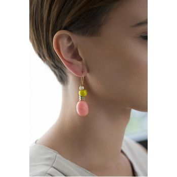 PINK NATURAL STONE EARRING ES0038