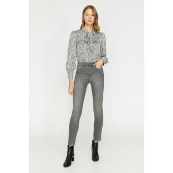 Women Gray Taylor Jean Trousers 0KAK47055MD