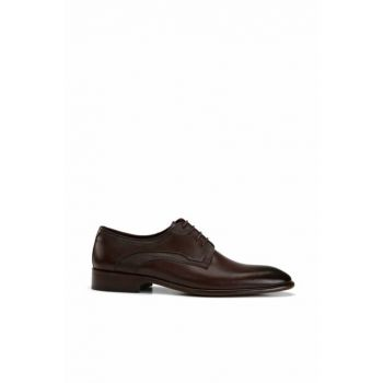 Genuine Leather Brown Men Shoes 02AYH138520A480