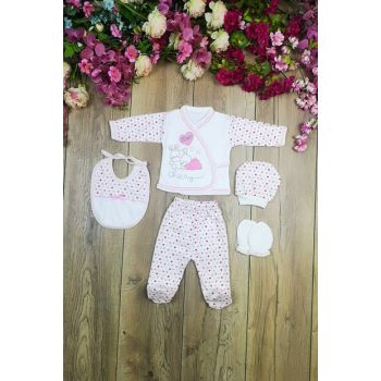 Bombino Rabbit Embroidered 5 Pieces Hospital Outlet Layette Set mc2019005