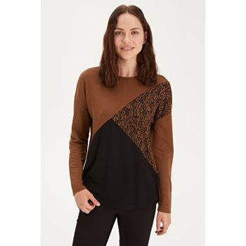 Women's Brown Jacquard T-Shirt 9WN264Z8