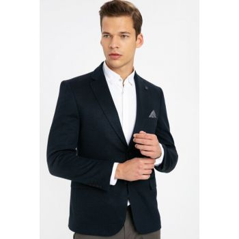 Men's Navy Blue Jacket 9W2787Z8