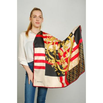 Women Multi Color Sport Polyester Scarf 9351415
