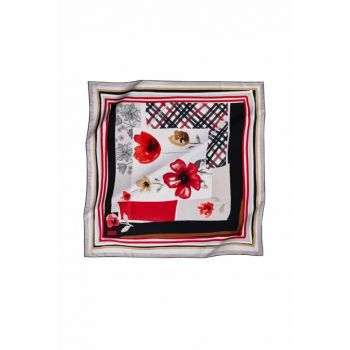 Patterned 07 Rayon Polyester Scarf 13300P 457386