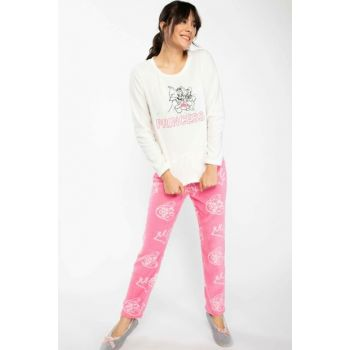 Women's Pink Tom and Jerry Printed Licensed Pajamas Set K0994AZ.18WN.PN83