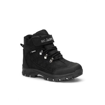 Black Silver Unisex Kids Boots DS.1641