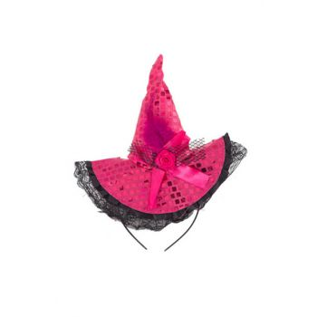 Sequin Halloween Capped Crown Pink PB-HLW-0043