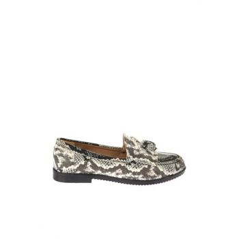 Black / white Women's Loafer Shoes 01AYY165290A109