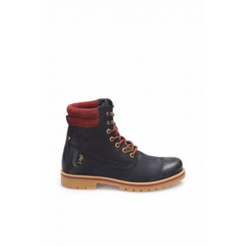 Genuine Leather Navy Blue Men Casual Shoes 000000000100228149