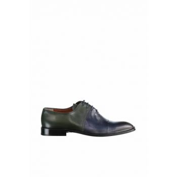 Genuine Leather Navy Blue Men Shoes 120130005741