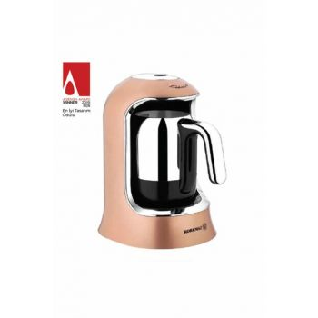 A860-06 Korkmaz Coffeekolic Rosagold / Chrome Automatic Coffee Machine 22-11-116-000001