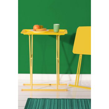 Handy Mate Foldable Tray Coffee Table - Yellow HND-004-MX-S-1