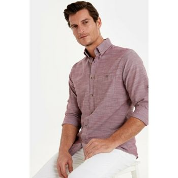 Men's Wine Red Shirt 9W1097Z8