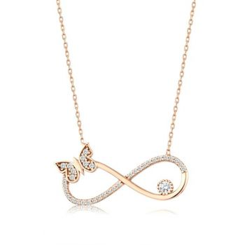 Women 925 Infinity Butterfly Necklace MA_KL_1479