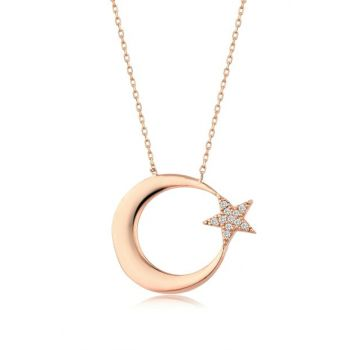 Women \ 's 925 Moon Star Necklace MA_KL_1399
