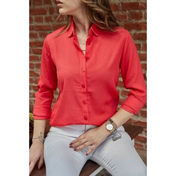 Women's Pomegranate Flower Handle Fold Shirt 9YXK2-41742-40
