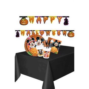 Halloween Mickey Halloween Letter Banner Tableware Set 8 Seater 88 Pieces AY-SET-0618