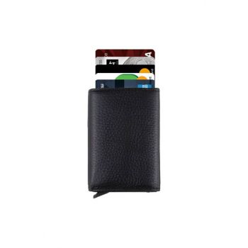 Genuine Leather Black Men's Wallet With Mechanism 2066111005010