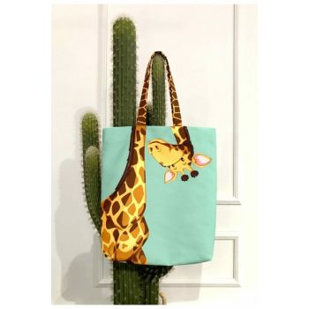 Giraffe Patterned Beach Bag 8681846020036