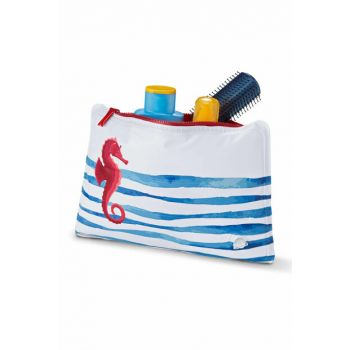 Inflatable Pillow Bag White Blue Red 362065