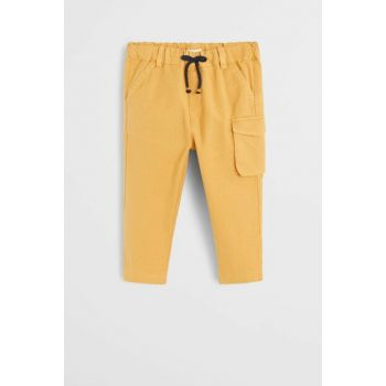 Mustard Color Baby Boy Trousers with Pockets 57065131