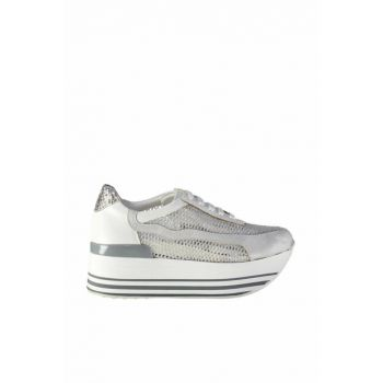 White Lame Women's Shoes 01AYH127730A902