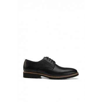 Genuine Leather Black Men Classic Shoes 02AYH138390A100