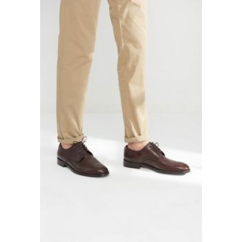 Genuine Leather Coffee Men Shoes 02AYH112510A480