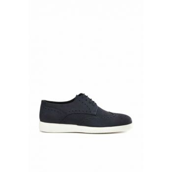 Genuine Leather Navy Blue Men Classic Shoes 02AYH133240A680