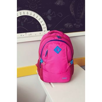 İbag Three Compartment Pink-Purple Backpack (Daily-Travel-School) YGN14232