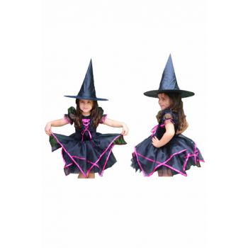 Witch Costume Fuchsia Black 5-6 Years Old 8681483657152