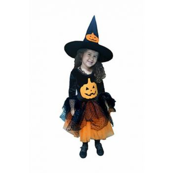 Pumpkin Witch Girl Costume 3-4 Years Old KM-KST-0309